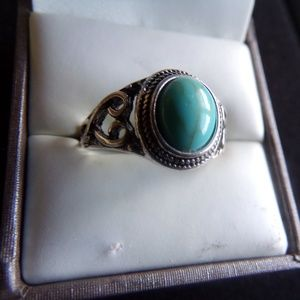 Jewelry - Turquoise Antique Style Natural Stone Ring